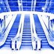 Moving escalator in the office hall — Stock Photo #1433981