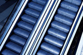 Moving escalator with stairs — Stockfoto
