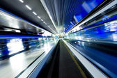 Fast moving escalator — Foto Stock