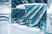 Futuristic escalator — Stock Photo