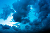 Dark blue cloudly sky — Stock Photo