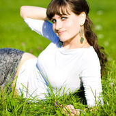 Attractive woman relaxing — Stock Photo