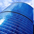 New diagonal skyscrapers business center — Stock Photo
