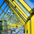 Yellow glass corridor in office — Stock Photo #1456338