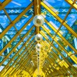 Yellow abstract ceiling in office - Foto de Stock  