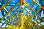Yellow abstract ceiling in office — Stock Photo