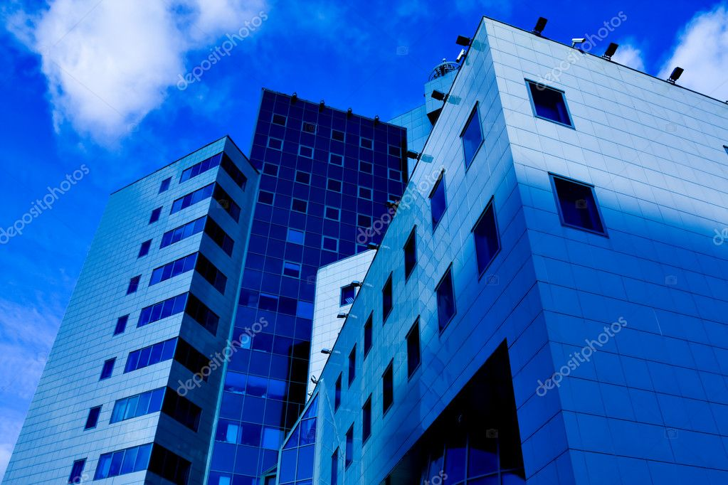 New business center over abstract clouds — Stock Photo #1455196