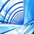 Blue futuristic corridor - Stock Photo