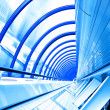 Blue futuristic corridor — Stock Photo