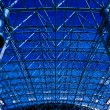 Blue abstract ceiling in office — Stock Photo #1485892