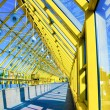 Yellow glass corridor in office — Stock Photo #1485926