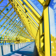Stock Photo: Yellow glass corridor in office
