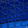 Blue abstract ceiling in office — Stock Photo