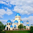 Blue abstract church in Moscow - Stock Photo