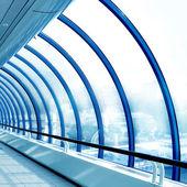 Glass corridor in office — 图库照片