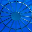 Blue circular ceiling — Stock Photo