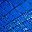 Abstract blue geometric ceiling — Foto Stock