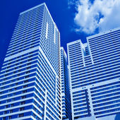New skyscrapers business centre — Stock Photo