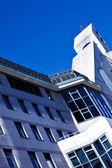 Underside view to modern facade — Stock Photo