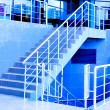 Stock Photo: Marble staircase with a steel handrail
