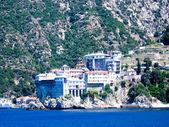 Holy monastery of Athos — Stock Photo