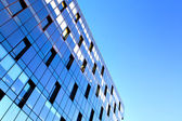Reflection in modern windows — Stock Photo