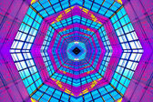 Violet illuminated ceiling indoor — Stock Photo