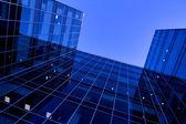 Underside view to new skyscraper — Stock Photo