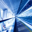 Fast moving escalator by motion — Stock Photo #2233831