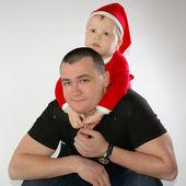 Szczęśliwy ojciec z synem — Zdjęcie stockowe