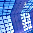 Modern blue ceiling in the office - Foto Stock