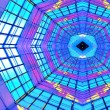 Violet illuminated ceiling indoor — Foto de Stock