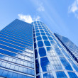 Stock Photo: Translucent wall of business tower