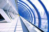 Diminishing hall inside metro station — Stock Photo