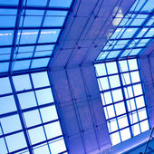 Modern blue ceiling in the office — Stock Photo