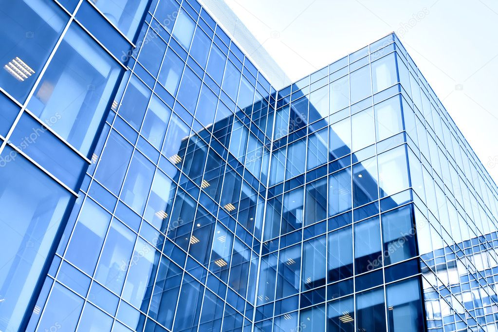 Blue modern business buildings stock photo vladitto for Modern business buildings