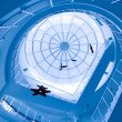 Stock Photo: Blue glass ceiling