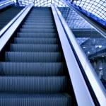Empty escalator — Stock Photo