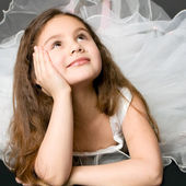 Beautiful dreaming girl — Stock Photo