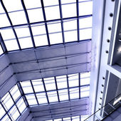 Gray glass roof — Stock Photo