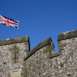 Stock Photo: Union flag flying