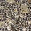 Stock Photo: Flint wall