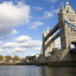 Tower Bridge and the Tower Of London - Stock Photo