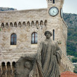 Montecarlo Prince's Palace and memorial statue - Stock Photo