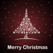 Twinkling star background with xmas tree — Imagen vectorial