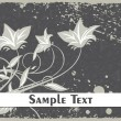 Royalty-Free Stock Vektorfiler: Grungy floral illustration