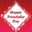 Royalty-Free Stock Imagem Vetorial: Card for friendship day