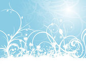 Fond transparent avec grungy floral — Vecteur