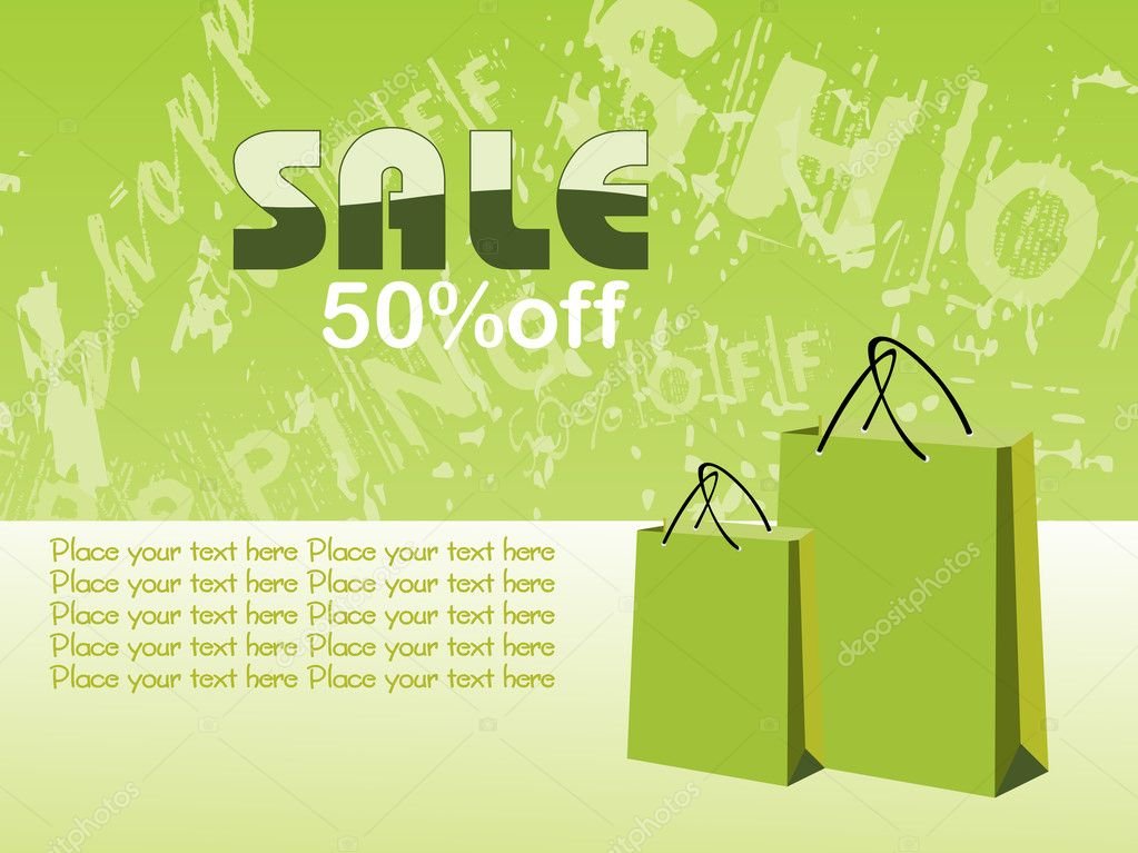 Texture background with shopping bag, illustration  Stock Vector #1449706