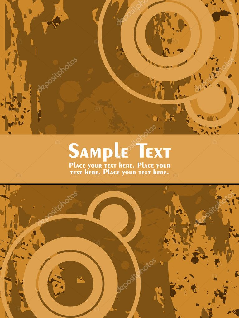 Texture background with circle and sample text  Stock Vector #1449835